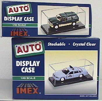 Car Case Clear Base 1:43 2pk, IMEX Item Number IMX2502