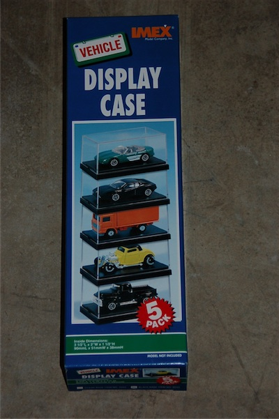 1:64 Display Case 5pk, IMEX Item Number IMX2533