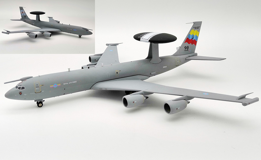 "Royal Air Force  Boeing E-3D Sentry AEW1 (707-300) ""90 Years, 8 Squadron 1915-2005"" ZH103 (1:200) by InFlight 200 Scale Diecast Airliners Item Number: IFE30917"