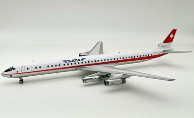 SATA Douglas DC-8-63 HB-IDM (1:200) by InFlight 200 Scale Diecast Airliners Item Number: IF8631218