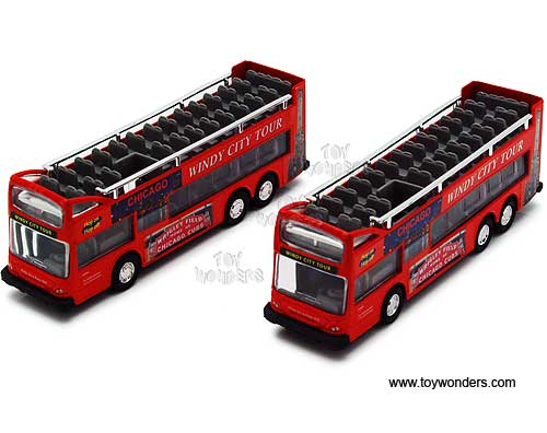 "Chicago Sightseeing Double Decker Bus Open Top (6"", Red),  Item Number 2168CG"