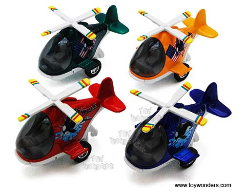 "Air Whale Helicopters (5"" diecast model, Assorted Colors.),  Item Number 408D"