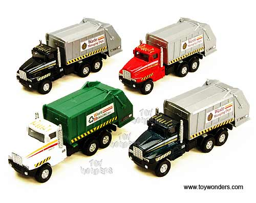 "Garbage Truck (6"" diecast model car, Assorted Colors.) - Price shown is for one truck"