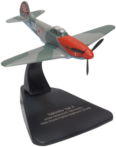 Yakovlev Yak-3 _ 30+-Victory Ace Lt. Col. Anton D. Yakimenko, Commander 150th Guards Fighter Aviation Regiment, Soviet Air Force, 1945 (1:72) - Preorder item, order now for future delivery, Oxford Diecast 1:72 Scale Models Item Number AC088