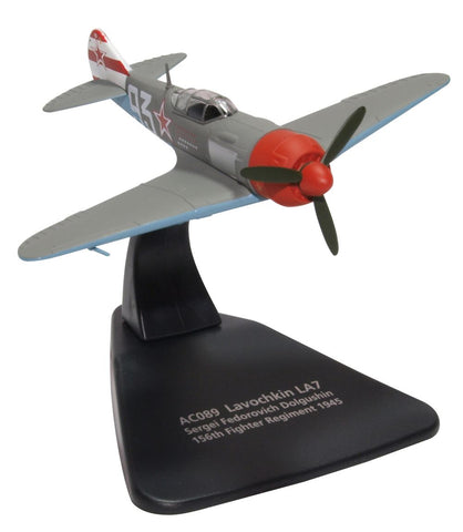 Lavochkin La-7 17-Victory Ace Sergei Dolgushin, Commander, 156th Fighter Regiment, 1945 (1:72) - Preorder item, order now for future delivery, Oxford Diecast 1:72 Scale Models, AC089