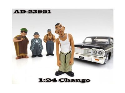 "Chango ""Homies"" Figure For 1:24 Scale Cars"