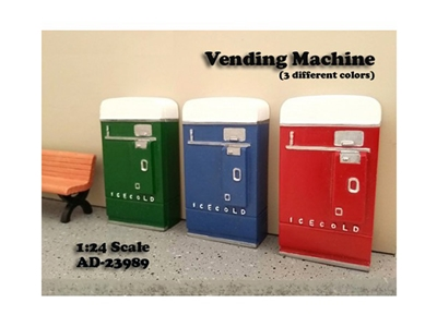 1 Piece Vending Machine Accessory Diorama Blue For 1:24