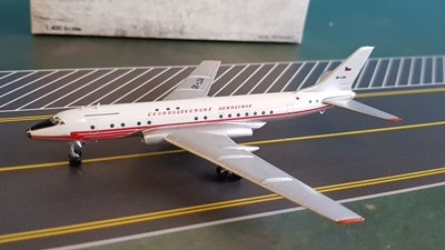 CSA Ceskoslovenske Aerolinie (Czech Airlines) TU-104A OK-LDA (1:400) by Retro Models Item Number: RETRO4001
