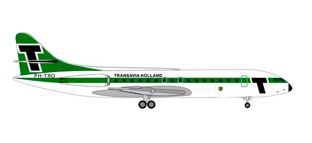 "Transavia Sud Aviation Caravelle ""Provincie Gelderland"" (1:500) by Herpa 1:500 Scale Diecast Airliners"