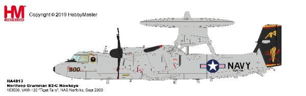 "E-2C Hawkeye Die VAW-125 ""Tiger Tails"", NAS Norfolks, Sept 2009 (1:72) by Hobby Master Diecast Airplanes"