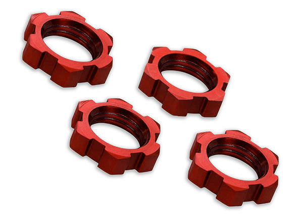 Wheels nuts, splined, 17mm(4), Traxxas Radio Control Item Number TRX7758R