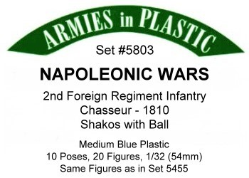 2nd Foreign Regt InfChassr1810 by Armies In Plastic Item Number: ARM5803