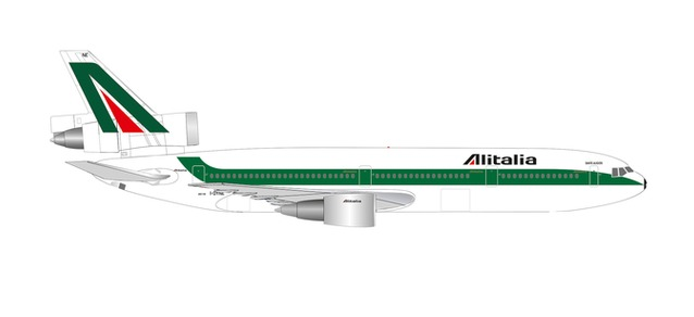 Alitalia DC-10-30 50TH ANNIVERSARY (1:500) by Herpa 1:500 Scale Diecast Airliners <p> Item Number: HE534277