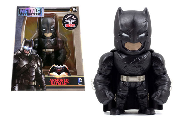 Armored Batman 4-Inch Diecast Metal Figure - Batman v Superman 2016 - METALS Diecast by Jada Toys, Jada Toys Item Number JDA97670