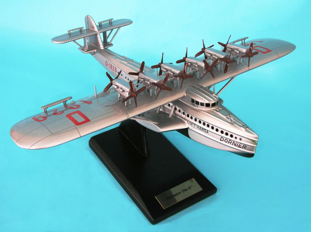 DO-X Seaplane Airliner (1:100), TMC Pacific Desktop Airplane Models Item Number KDO10TE