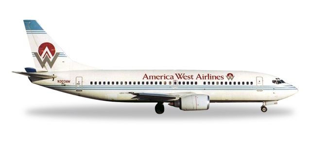 America West 737-300 N303AW (1:500) 25 Years, Herpa 1:500 Scale Diecast Airliners Item Number HE500302-001