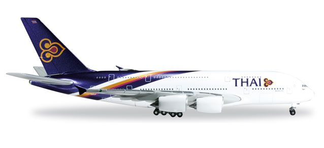 "Thai A380 HS-TUC ""Chaiya"" (1:500), Herpa 1:500 Scale Diecast Airliners Item Number HE502306-003"