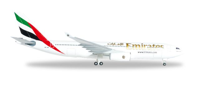 Emirates A330-200 A6-EAS (1:500), Herpa 1:500 Scale Diecast Airliners Item Number HE514132-001