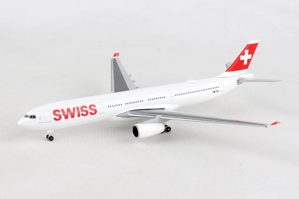 Swiss International Air Lines Airbus A330-300 HB-JHI (1:500), Herpa 1:500 Scale Diecast Airliners Item Number HE523134-003