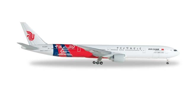 "Air China 777-300ER B-2047 ""China-France 50th"" (1:500), Herpa 1:500 Scale Diecast Airliners Item Number HE527064"