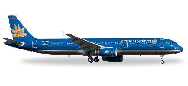 Vietnam Airlines A321 VN-A336 (1:500), Herpa 1:500 Scale Diecast Airliners Item Number HE527149