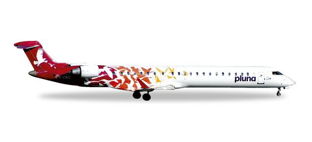 Pluna CRJ-900 (1:500) Red Tail CX-CRC, Herpa 1:500 Scale Diecast Airliners Item Number HE527446