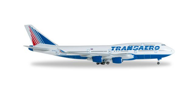 Transaero 747-400 EI-XLL (1:500), Herpa 1:500 Scale Diecast Airliners Item Number HE527651