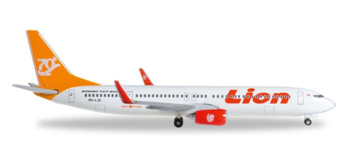 "Lion Air 737-900ER ""70th Boeing Next Generation 737"" PK-LJZ (1:500), Herpa 1:500 Scale Diecast Airliners Item Number HE527989"