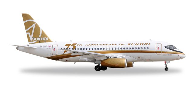 "Center South Airlines Sukhoi Superjet 100 ""Sukhoi 75th Anniversary"" RA-89007 (1:500), Herpa 1:500 Scale Diecast Airliners Item Number HE529310"