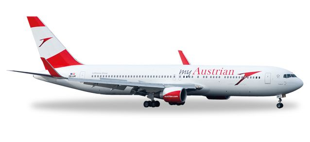 Austrian 767-300 OE-LAY (1:500) New Livery, Herpa 1:500 Scale Diecast Airliners Item Number HE529334