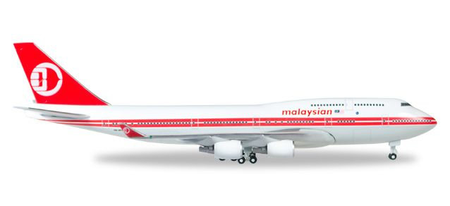 Malaysia Airlines Boeing 747-400 - Retro colors 9M-MPP (1:500), Herpa 1:500 Scale Diecast Airliners Item Number HE529679