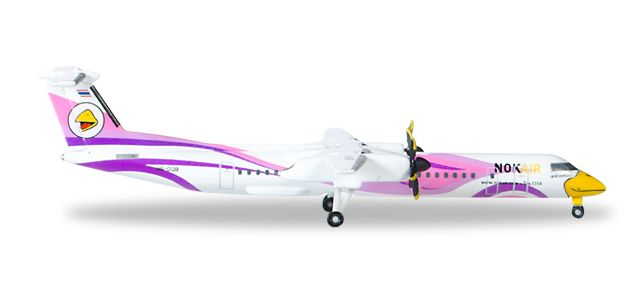 "Nok Air Q-400 ""Nok Kao Naew"" HS-DQB (1:500), Herpa 1:500 Scale Diecast Airliners Item Number HE529808"
