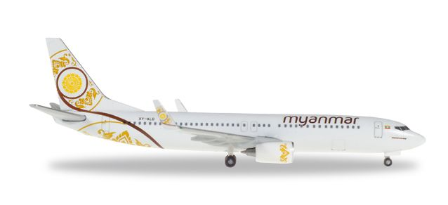 Myanmar 737-800 XY-ALB (1:500), Herpa 1:500 Scale Diecast Airliners Item Number HE530538