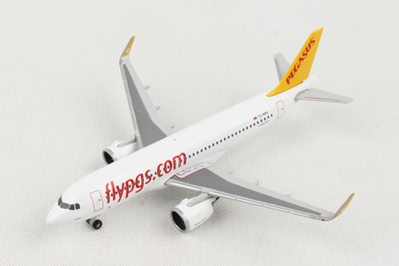 Pegasus Airlines Airbus A320neo (1:500) - , Herpa 1:500 Scale Diecast Airliners Item Number HE531788