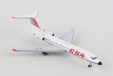 "CSA - Czechoslovak Airlines Tupolev TU-134A ""1992 Colors"" (1:500), Herpa 1:500 Scale Diecast Airliners, Item Number HE532945"