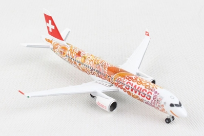 "Swiss International Air Lines A220-300 ""Fete des Vignerons"" (1:500) by Herpa 1:500 Scale Diecast Airliners"