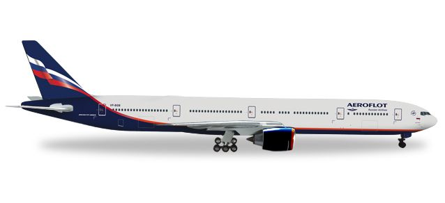 "Aeroflot 777-300ER VP-BGB ""M.Kutuzov"" (1:200), Herpa 1:200 Scale Diecast Airliners Item Number HE556552"
