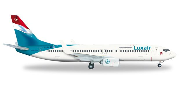 Luxair 737-800 LX-LGV (1:200), Herpa 1:200 Scale Diecast Airliners Item Number HE556590