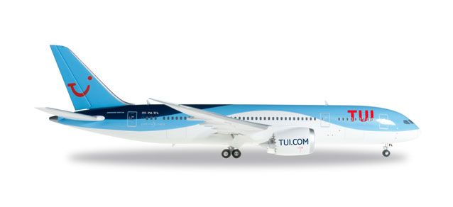 Tui Airlines 787-8 PH-TFL (1:200), Herpa 1:200 Scale Diecast Airliners Item Number HE557757