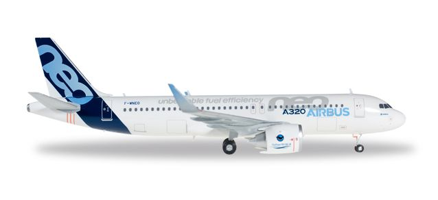 Airbus A320NEO House Color F-WNEO (1:200), Herpa 1:200 Scale Diecast Airliners Item Number HE557894