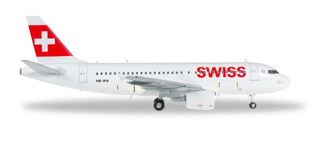"Swiss International Air Lines Airbus A319 ""Mont Racine"" HB-IPX (1:200), Herpa 1:200 Scale Diecast Airliners Item Number HE558020"