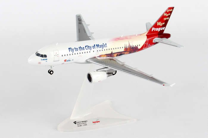 "CSA Czech Airlines Airbus A319 ""Prague - City of Magic"" OK-NEP (1:200), Herpa 1:200 Scale Diecast Airliners Item Number HE558075"