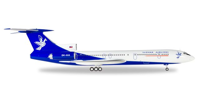 Slovak Airlines Tupolev TU-154M OM-AAA (1:200), Herpa 1:200 Scale Diecast Airliners Item Number HE558143