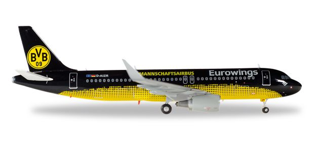 "Eurowings Airbus A320 ""BVB Mannschaftsairbus"" D-AIZR  (1:200), Herpa 1:200 Scale Diecast Airliners Item Number HE558167"