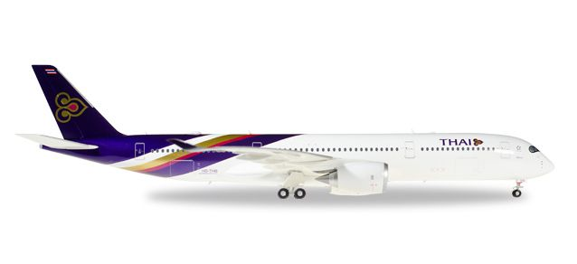 "Thai Airways Airbus A350-900 XWB ""Wichian Buri"" HS-THB (1:200), Herpa 1:200 Scale Diecast Airliners Item Number HE558174"
