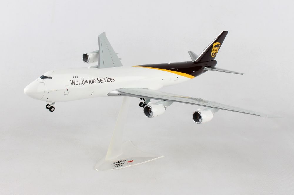 UPS 747-8f (1:200) - Preorder item, order now for future delivery, Herpa 1:200 Scale Diecast Airliners Item Number HE558822