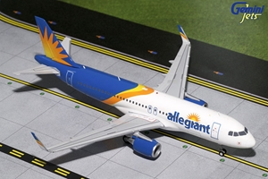 Allegiant A320-200 with Sharklets, New Livery (1:200), GeminiJets 200 Diecast Airliners, Item Number G2AAY664