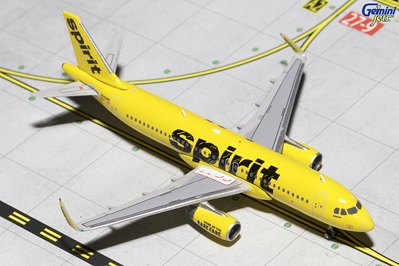 Spirit A320-200S Yellow Livery, Sharklets N642NK (1:400), GeminiJets 400 Diecast Airliners Item Number GJNKS1355