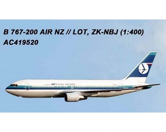 LOT Polish / Air New Zeland Hybrid 767-200 ZK-NBJ (1:400)