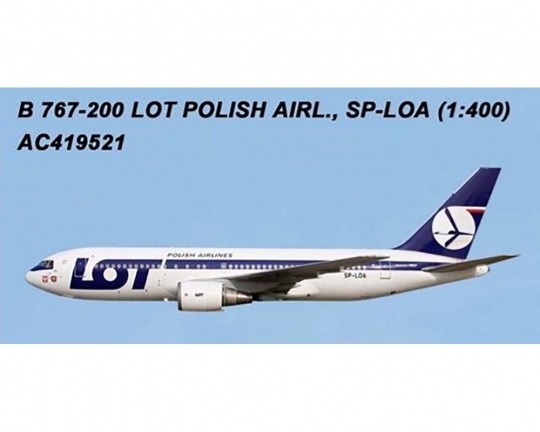 LOT Polish Airlines 767-200 SP-LOA (1:400)